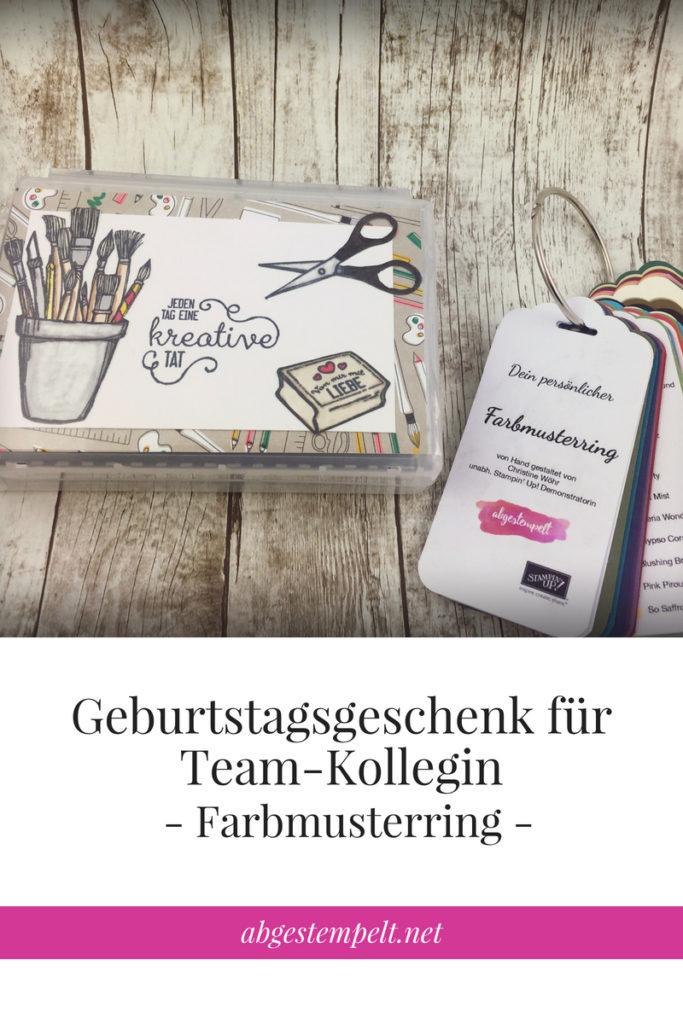 abgestempelt.net Bloggrafik Farbmusterring als Geburtstagsgeschenk für Team-Kollegin