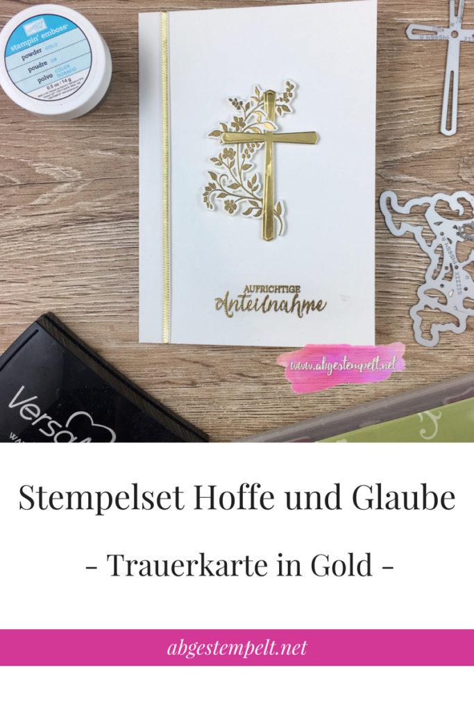 abgestempelt.net Vorlage Bloggrafik Trauerkarte Hoffe und Glaube