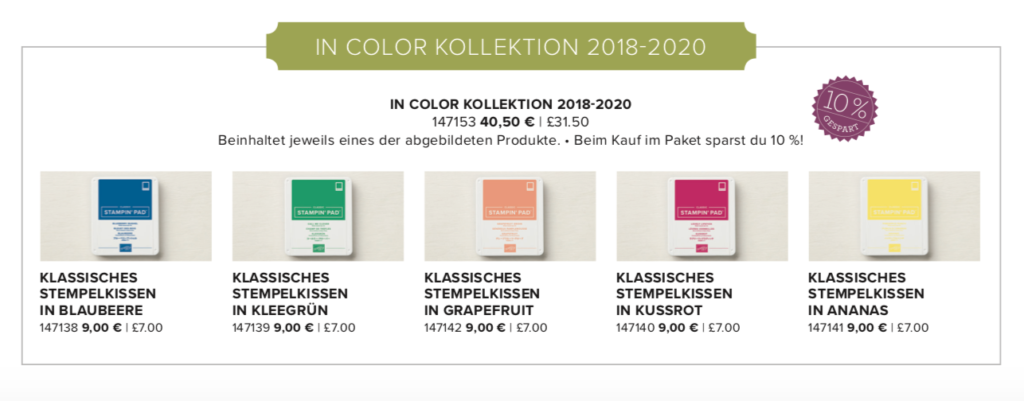 In Color Kollektion 2018 - 2020