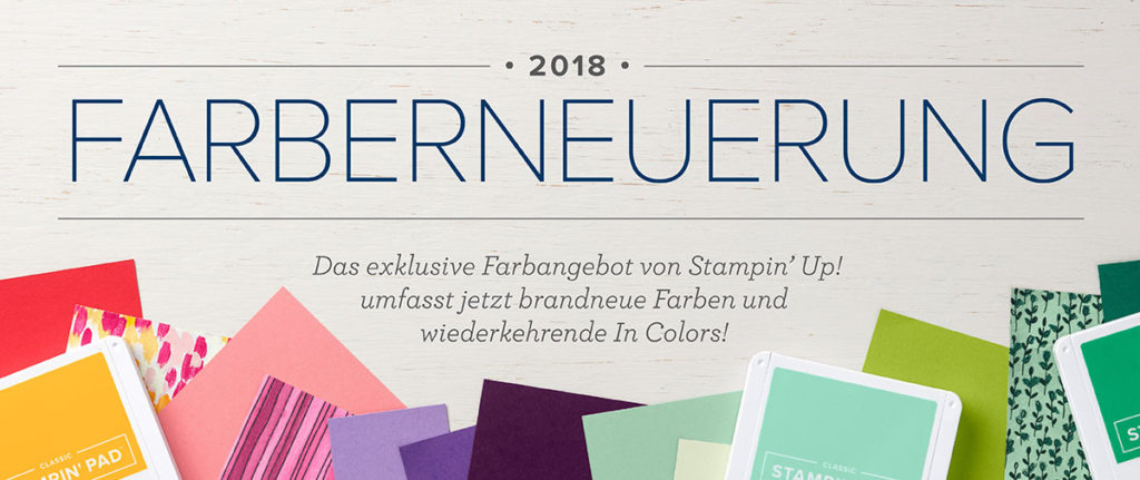 Stampin' Up! Farberneuerung 2018 Banner/Header