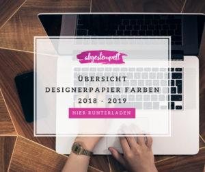 Stampin' Up! Designerpapier 2018 - 2019 - Farbübersicht abgestempelt.net