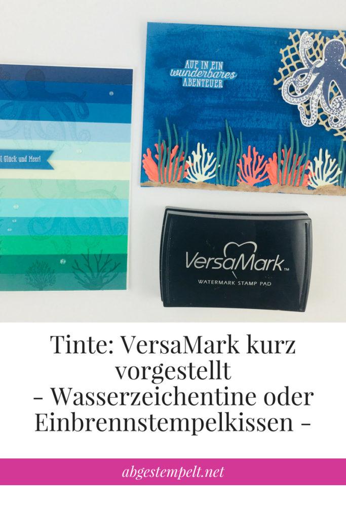 Blogvorlage abgestempelt.net Tinte VersaMark Wasserzeichentinte oder Einbrennstempelkissen