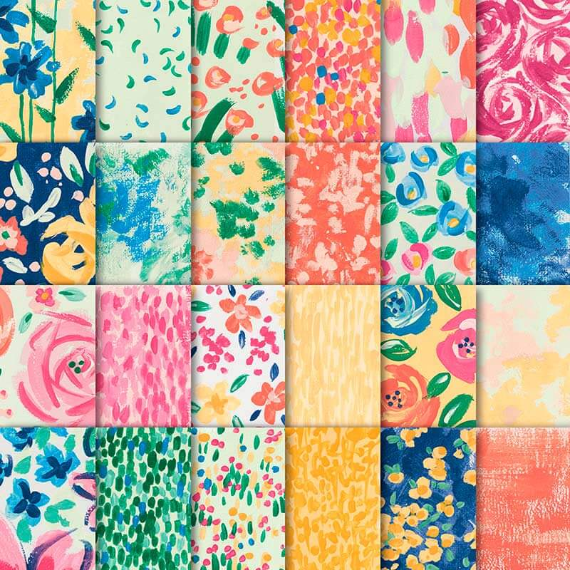 Designerpapier Garten-Impressionen - 146289