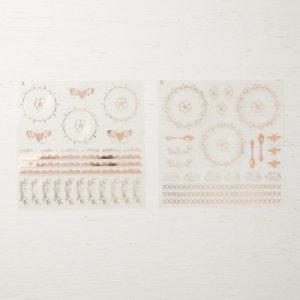 Vinylaufkleber Teestube in Kupfer -146314, 4 Bögen