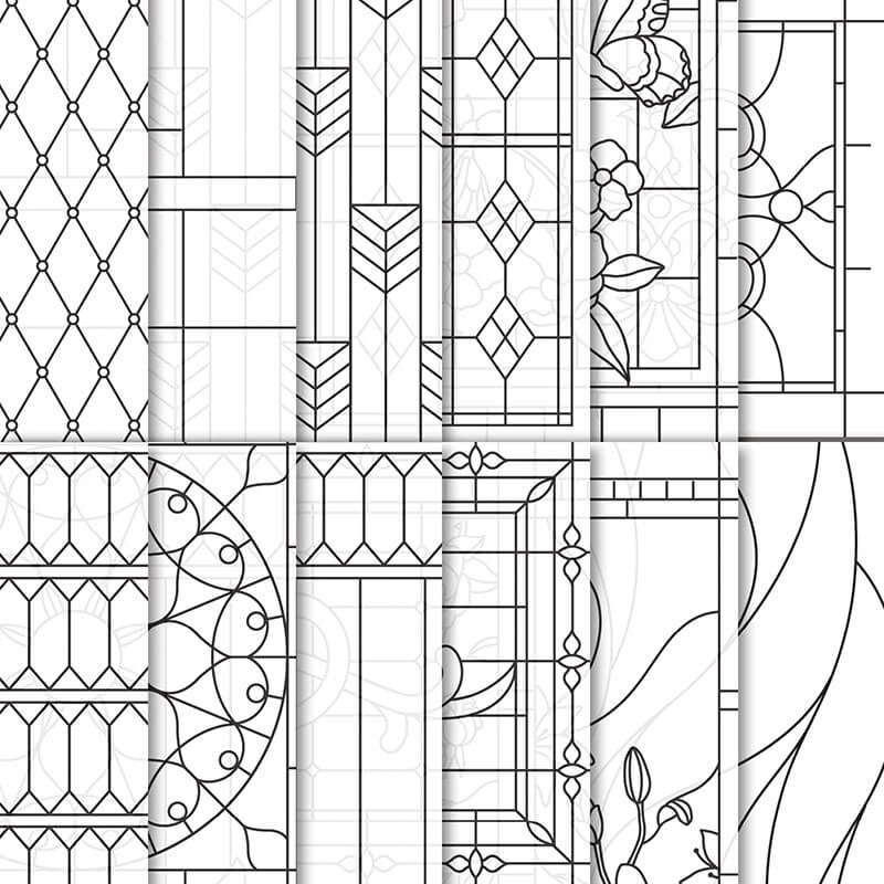 Designerpergament Fantasie aus Glas - 146344