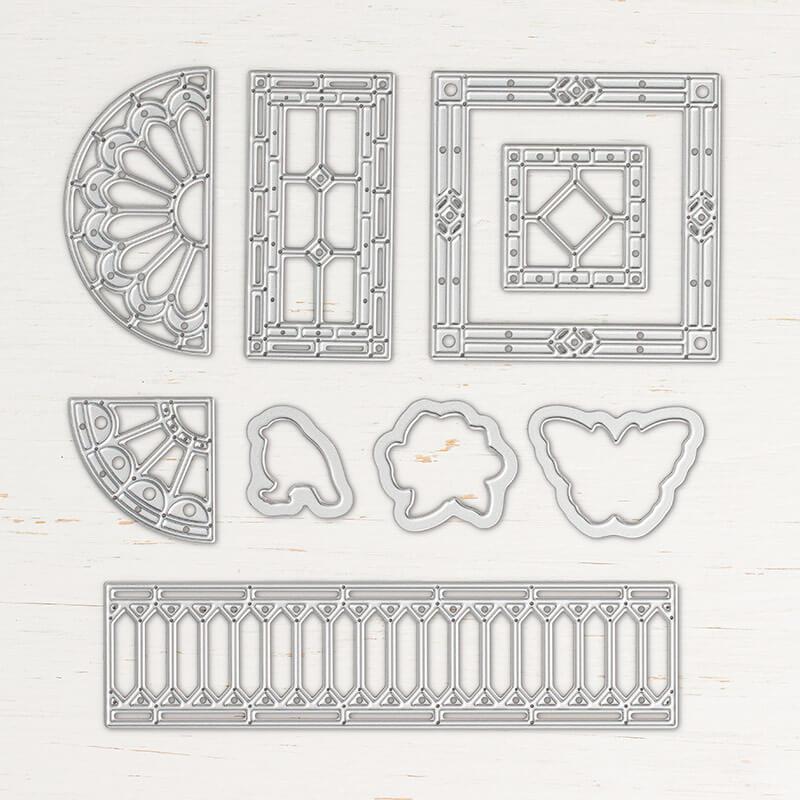 Thinlits Formen Buntglas - 146347
