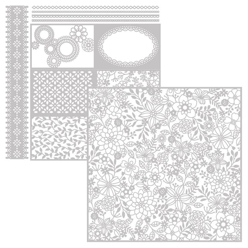 Lasergeschnittenes Spezialpapier Fantastisch Filigran - 146907