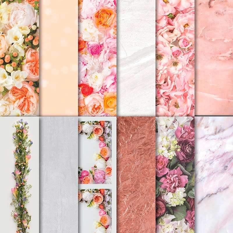 Designerpapier Blütenpracht - 146913