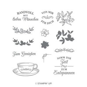 Stempelset Teezeit - 147593, 13 Klarsichtstempel