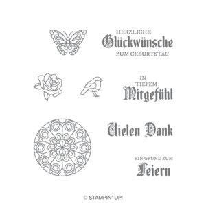 Stempelset Buntglasgrüße - 147595