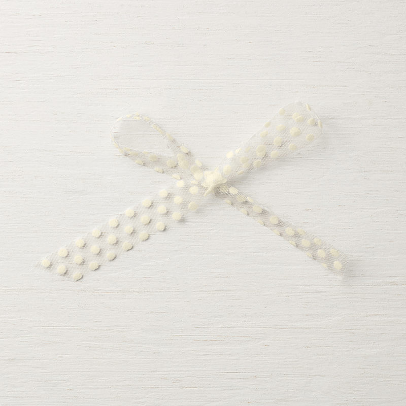 "5/8"" (1,6 cm) Gepunktetes Tüllband Vanille Pur - 147629"