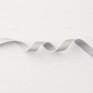 """1/2 """" (1,3 cm) Geschenkband mit Webstruktur Granit - 147656"""