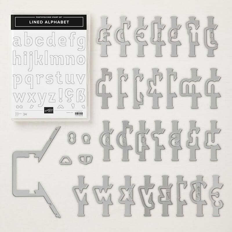 Produktpaket Lined alphabet - 148390