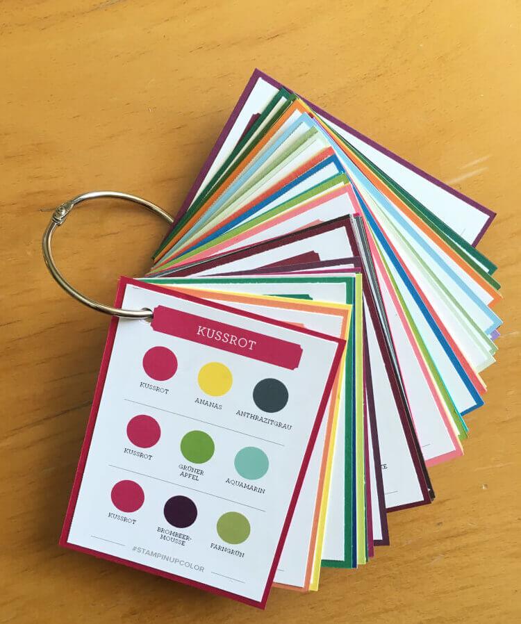 Stampin' Up! Color Coach / Farbfächer selber machen - abgestempelt