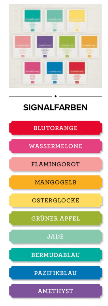 Stampin' Up! Demonstrator werden & gratis Stempelkissenset erhalten Signalfarben