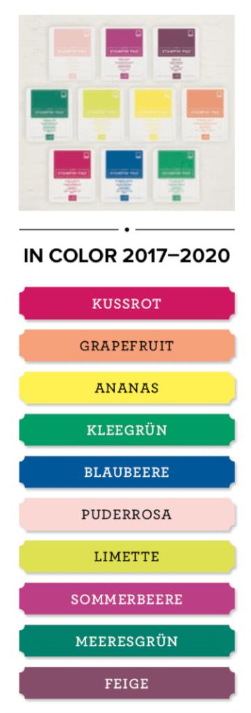 Stampin' Up! Demonstrator werden & gratis exklusives Stempelkissenset erhalten In Color 2017 - 2020