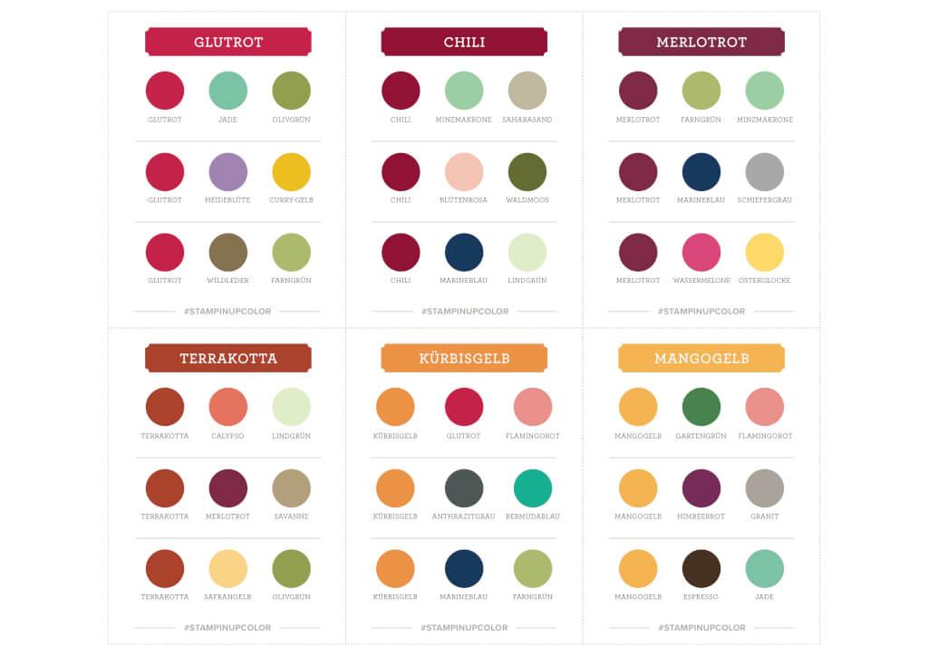 Stampin' Up! Farberneuerung - Color Coach Alle Farben Gratis Download als PDF Vorschau