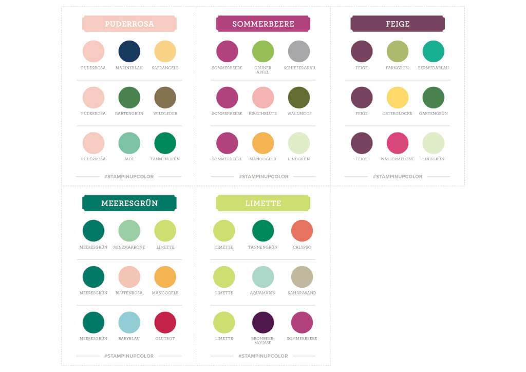 Stampin' Up! Farberneuerung - Color Coach In Colors Gratis Download als PDF Vorschau