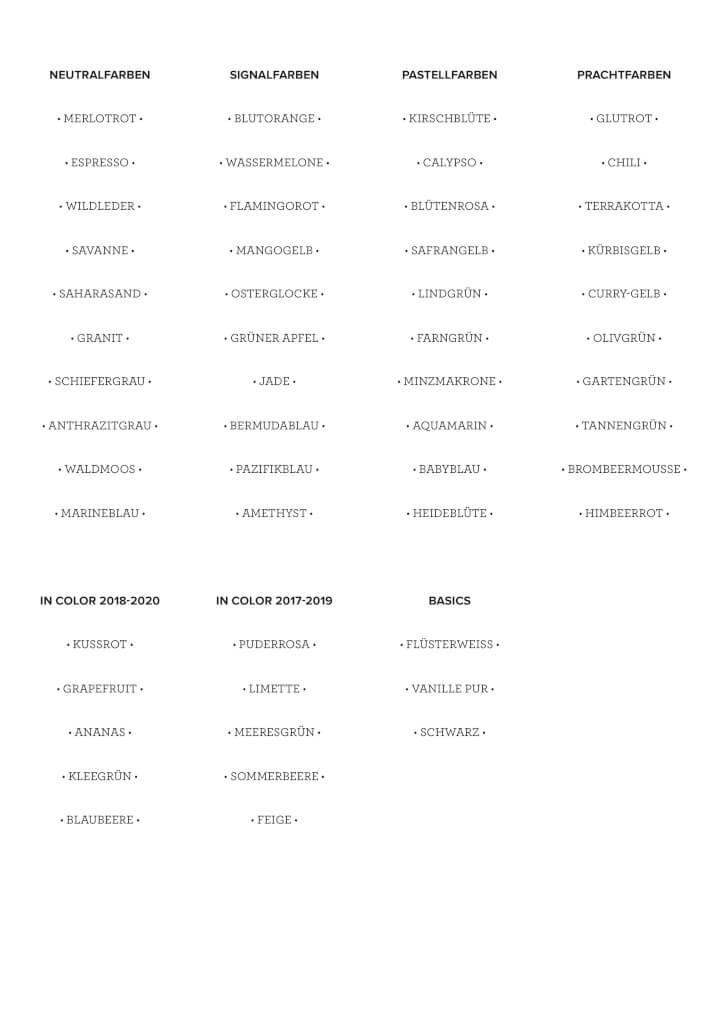 Stampin' Up! Farbetiketten Gratis Download als PDF Vorschau