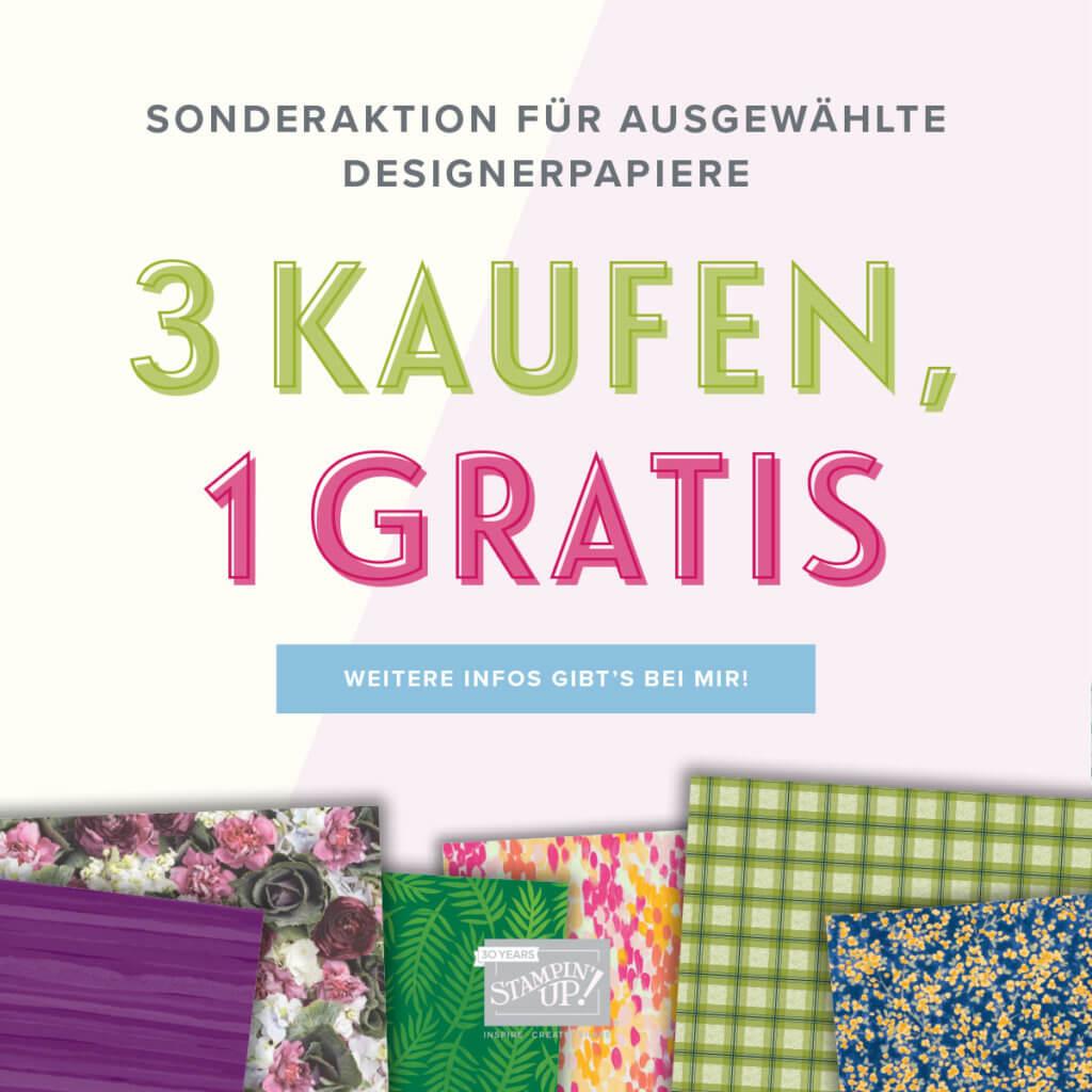 Designerpapier-Aktion 3 kaufen, 1 gratis erhalten quadratisch