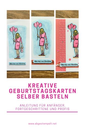 Kreative Geburtstagskarten selber basteln Blogvorlage