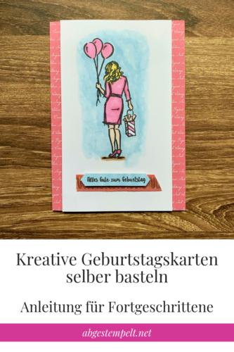 Kreative Geburtstagskarten selber basteln Fortgeschrittener Blogvorlage