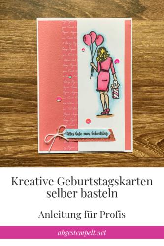 Kreative Geburtstagskarten selber basteln Profi Blogvorlage