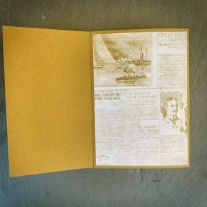 Trippelkarte / Tri-fold-karte männlich aufgeklappt 1
