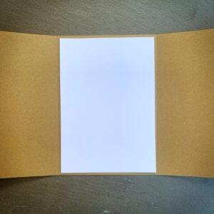 Trippelkarte / Tri-fold-karte männlich aufgeklappt 2