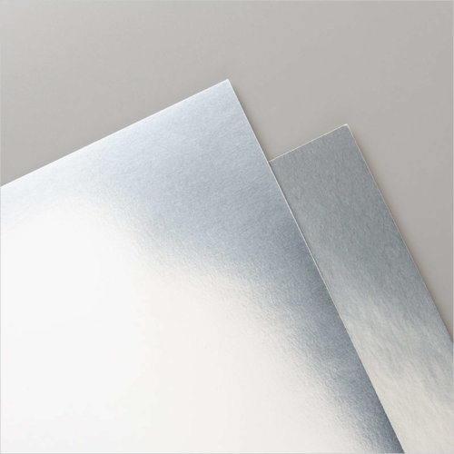 132178 METALLIC-FOLIENPAPIER IN SILBER