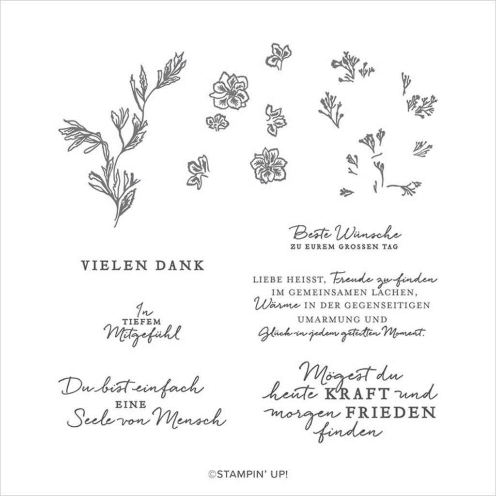 150369 Stempelset Berührende Blüten
