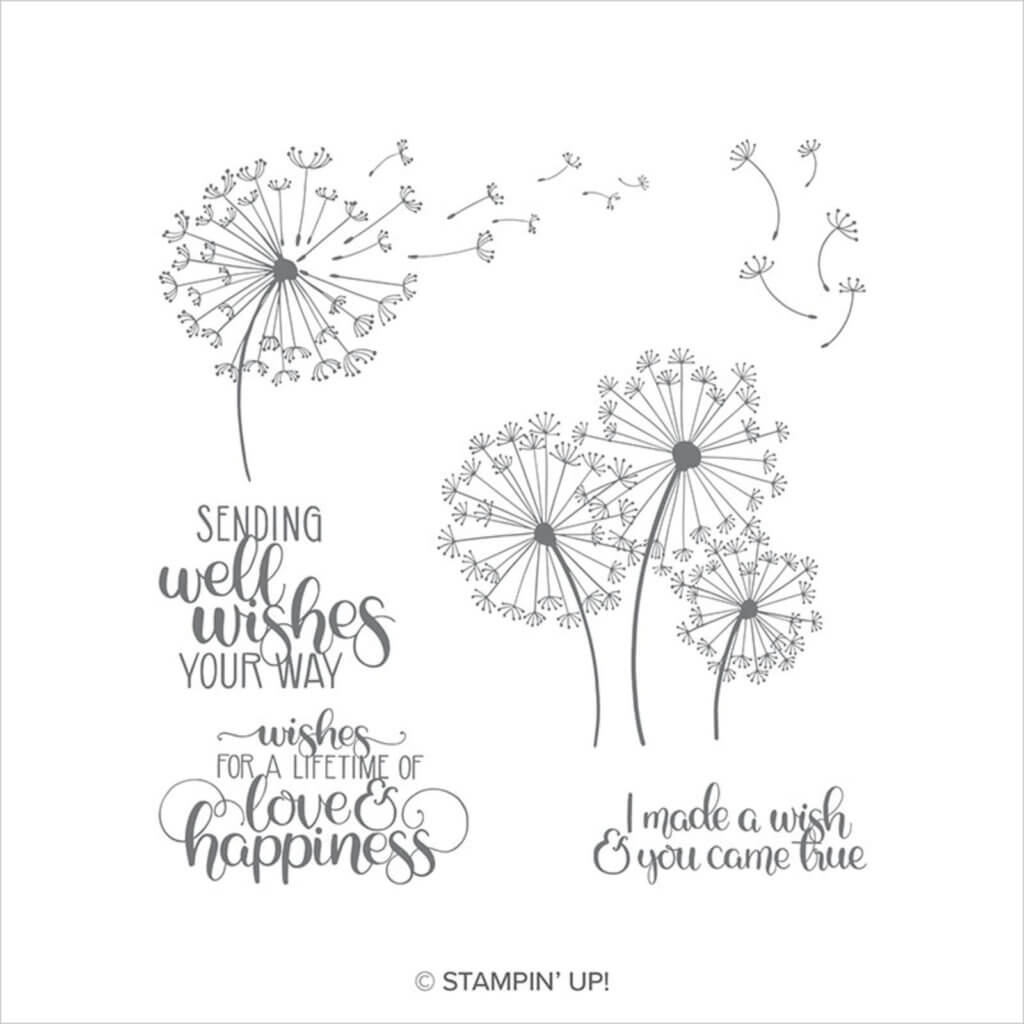 151345 Stempelset Dandelion Wishes