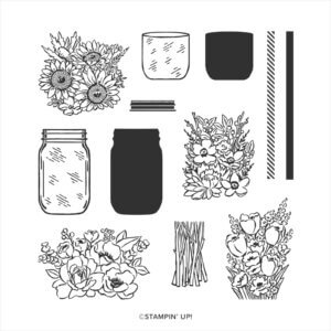 Stempelset Jar of Flowers 152515 Wendestempel