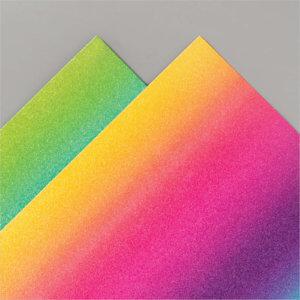 Glitzerpapier in Regenbogenfarben 153056
