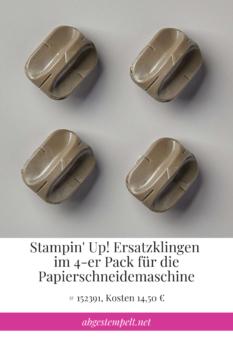 Ersatzklingen für Stampin Up Papierschneidemaschine
