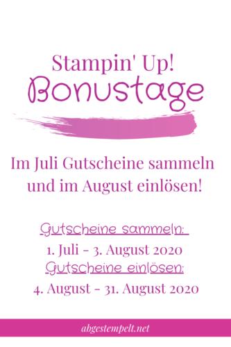 Stampin' Up! Bonustage 2020 Blogpost