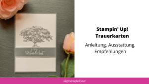 Stampin' Up! Trauerkarten basteln Blogvorschau