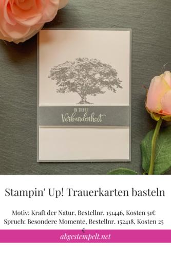 Stampin' Up! Trauerkarten basteln Blogpost Anleitung
