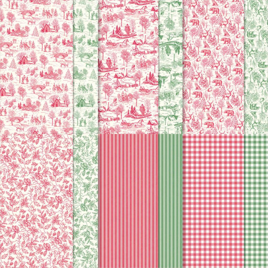 Designerpapier Landhausweihnacht - 150432
