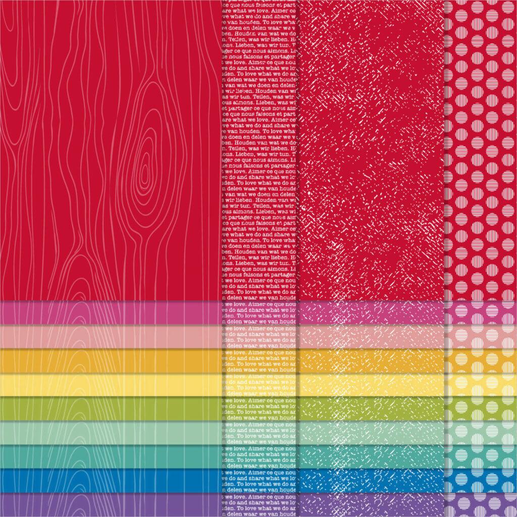 Designerpapier Kollektion Signalfarben 152487