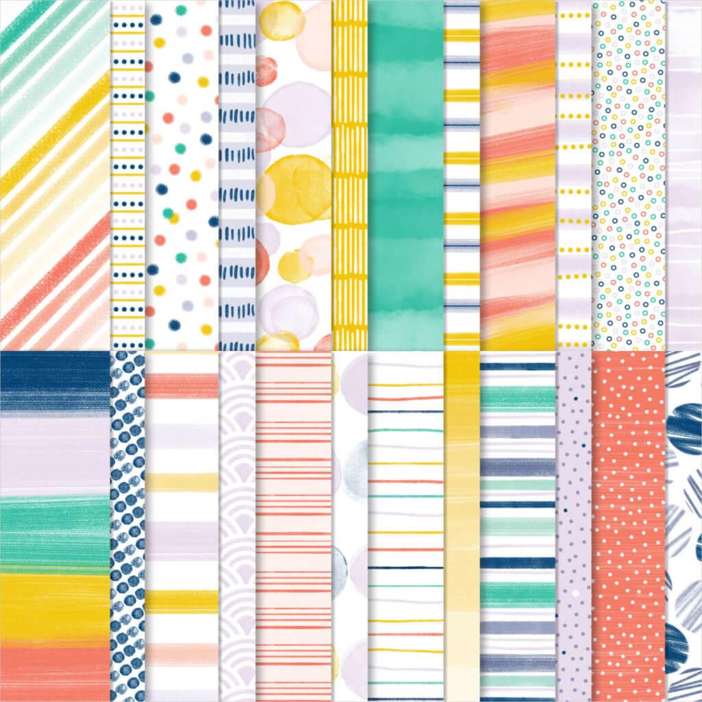 Designerpapier Jede Menge Muster - 152490