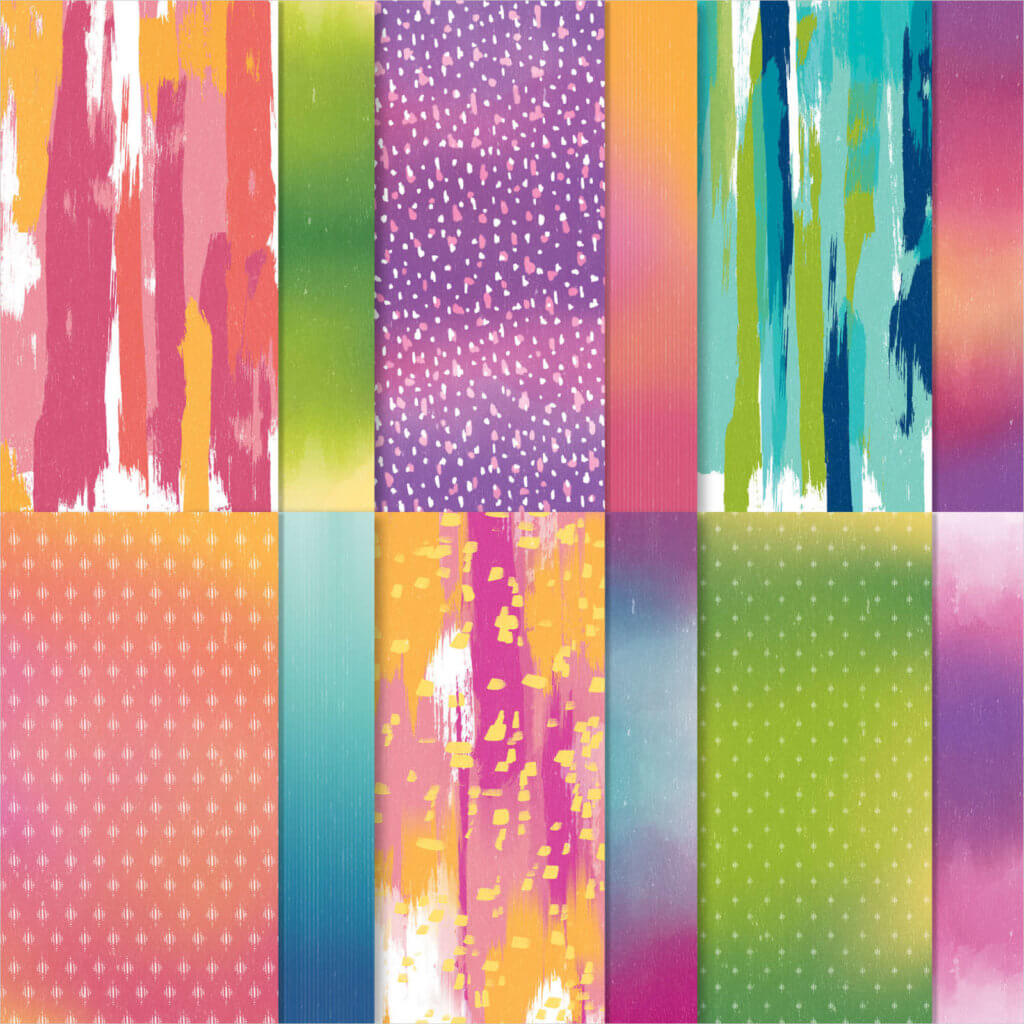 Designerpapier Farbfantasie - 152495