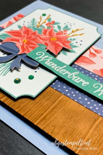 Weihnachtskarte mit Kartensortiment Erinnerungen & Mehr Nahansicht abgestempelt.net