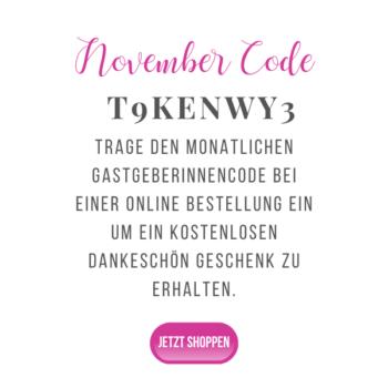 November Gastgeberinnencode stampin up onlineshop