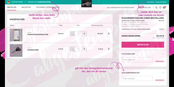 Stampin' Up! Produkte bestellen online shop