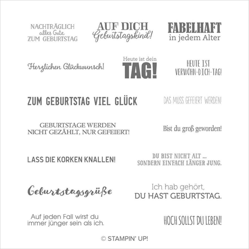 Stampin Up Stempelset Geburtstagsmix - 149087
