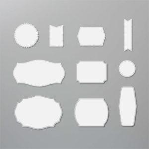 Stanzformen Etiketten mit Stil - 152886
