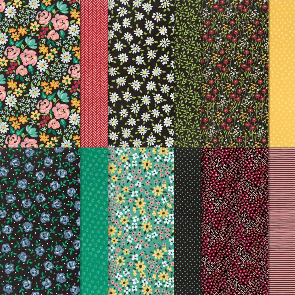 Designerpapier Wiesenblumen - 155223