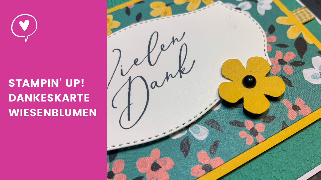 Blogpost Stampin' Up! Dankeskarte Wiesenblumen