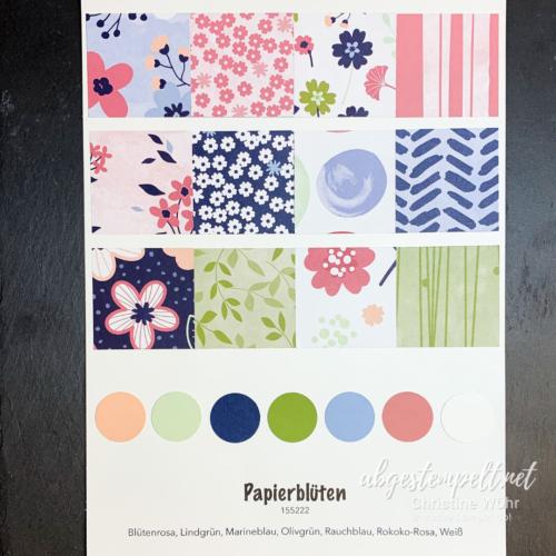 Stampin up Designerpapier Papierblüten Vorstellung